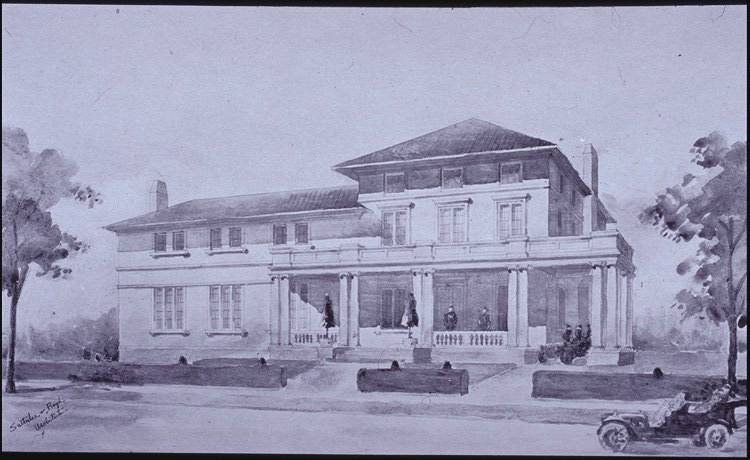 Key and Seal Club unbuilt project (1909-1910)