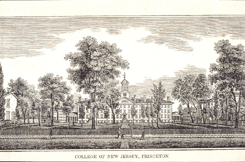 View of front campus circa 1842